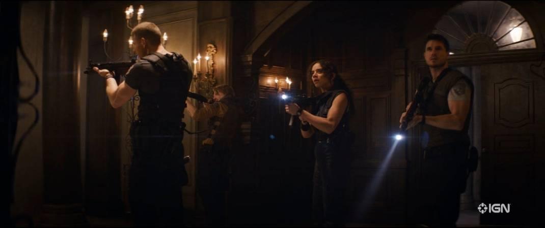 Tom Hopper de Albert Wesker, Hannah John-Kamen como Jil Valentine e Robbie Amell de Chris Redfield / Sony Picutres: Reprodução