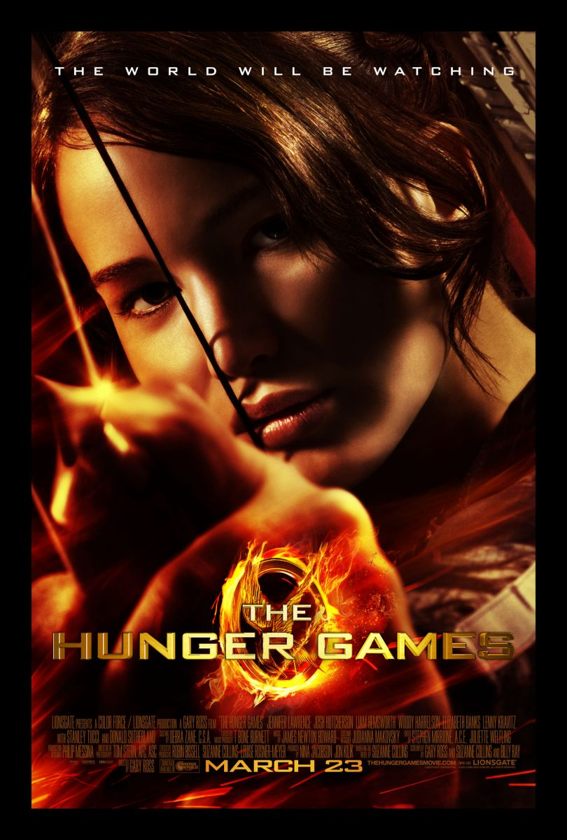 Poster do primeiro filme da serie de filmes The Hunger Games, lançado em 2012