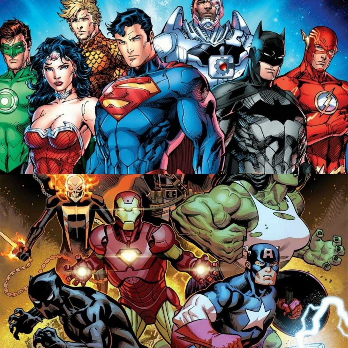 FONTE : Montagem/ Reprodução : DC Comics/ Marvel Comics.