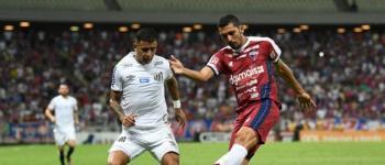 Com gol de pênalti, Fortaleza vence Santos no Castelão