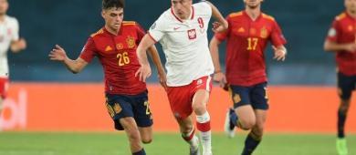 Lewandowski marca, e Polônia segura empate contra a Espanha na Eurocopa