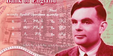 Alan Turing estampará a nota de 50 libras da Grã-Bretanha