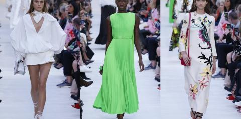 Neon, volume e fluidez marcam desfile da Valentino no Paris Fashion Week