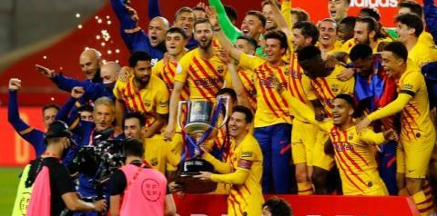 Messi faz dois, Barcelona atropela Athletic Bilbao e fatura o título da Copa do Rei