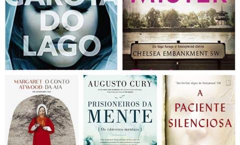 Os 5 livros mais vendidos no Brasil