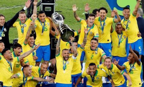 Brasil vence Peru e fatura sua nona Copa América, a quinta em casa