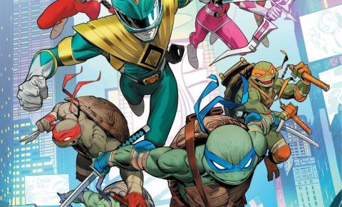 Mais um sonho nas HQs: Crossover entre Tartarugas Ninjas e Power Rangers