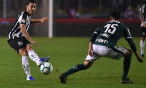 Em confronto direto, Santos e Palmeiras se enfrentam na Vila Belmiro