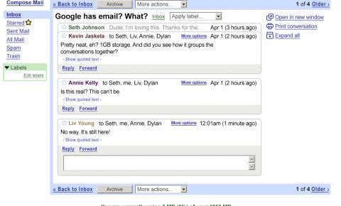 Gmail completa 15 anos com novos recursos