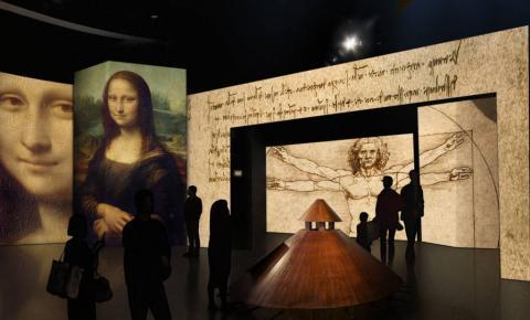 Mostra imersiva de Leonardo da Vinci inaugura novo MIS em SP