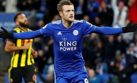 Comandado por Brendan Rodgers e Vardy, Leicester é vice-líder da Premier League