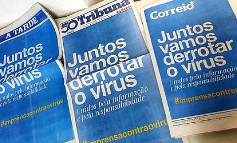 Jornais impressos do Brasil amanhecem com capas idênticas em campanha de conscientização contra o Coronavírus