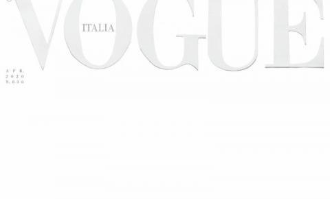 Vogue Itália chama atenção ao usar capa completamente branca