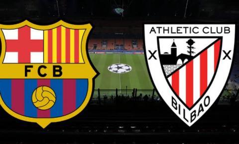 Em reedição da final da Supercopa da Espanha, Barcelona enfrenta o Athletic Bilbao em casa