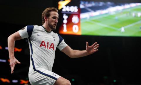 Kane faz dois e Tottenhan abre vantagem na Liga Europa