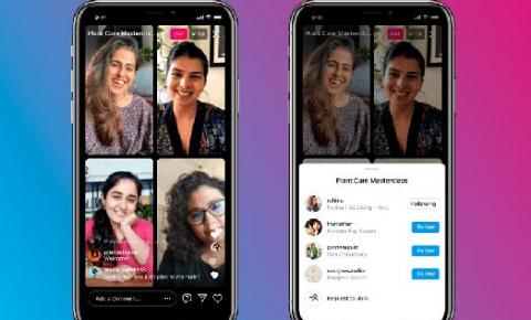 Instagram lança atualização que permite 4 pessoas transmitindo em live