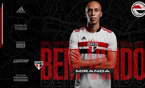 Miranda é apresentado oficialmente como novo reforço do São Paulo