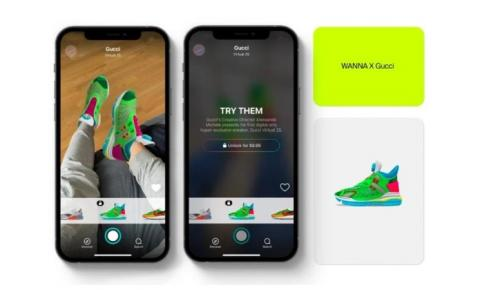 Gucci lança nova coleção de tênis em formato digital