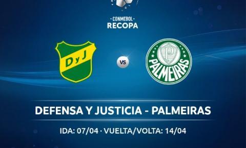 Defensa y Justicia e Palmeiras se enfrentam na final da Recopa Sul-Americana