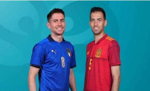 Itália e Espanha disputam a primeira vaga para a final da Eurocopa 2020