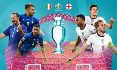 Itália e Inglaterra fazem a final da Eurocopa 2020