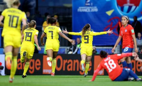 Favorita, Suécia derrota Chile na abertura do Grupo F do Mundial Feminino