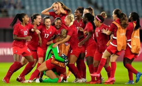 Seleção feminina é eliminada pelo Canadá e fica sem medalha