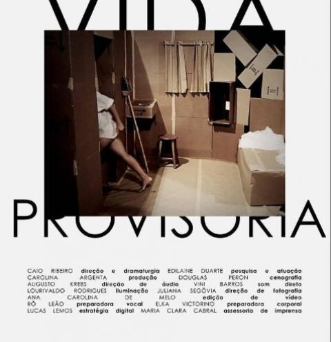 Peçavídeo 'Vida Provisória' estreia dia 12 de maio